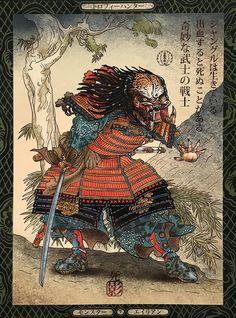 """Samurai Predator"" by Chet Phillips #die-hard #jmt #john-mctiernan #mctiernan #predator"