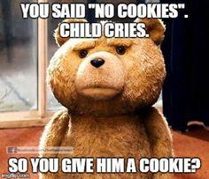 Don't reinforce undesirable behavior!