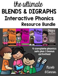 Everything you need for teaching blends and digraphs!