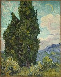 Vincent van Gogh (Dutch, 1853–1890), Cypresses, 1889.  Oil on canvas, 93.4 x 74 cm.  The Metropolitan Museum of Art, New York, Rogers Fund, 1949, 49.30 Image © The Metropolitan Museum of Art / Art Resource, NY