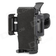 Brand: No; Quantity: 1 Piece; Color: Black; Material: Plastic; Compatible Models: Universal; Compatible Size: Max. width: 11cm; Features: Holds your phone securely in place; Can be rotated 360 degrees; Easy to install; Packing List: 1 x Bracket 1 x Clamp; http://j.mp/1tpcZt2