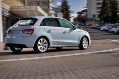 Audi A1 Sportback in Cumulus blue