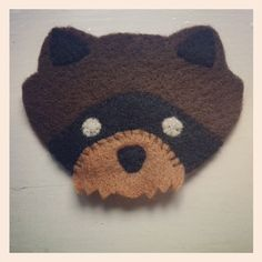 Moonrise kingdom khaki scout raccoon patch by Lizzwade on Etsy, £3.50