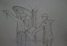 Kpop Drawings, Butterfly Art, Landing, Fan Art, Geo, Taehyung, Memories, Poster Prints, Random