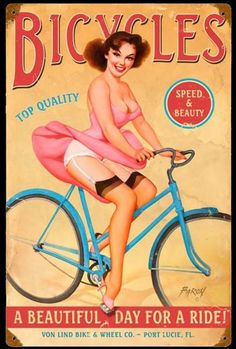 Click to find out more about Bicycles Pin Up Girl Sign