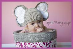 Elephant Ears Crocheted Cotton Hat  by InspiredByBabyAstin on Etsy, $18.99