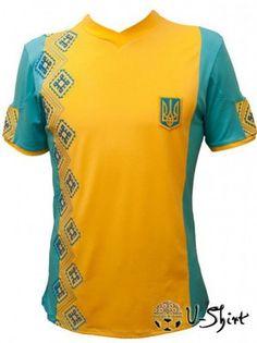EURO 2012 t-shirt -UKRAINE- with Ukrainian Embroidery
