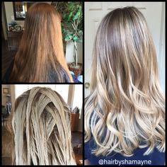#hairbyshamayne #balayage #blondehair