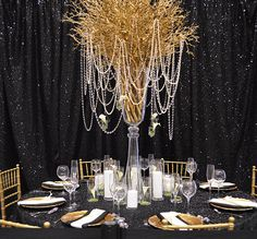 Farah & Nour black and gold wedding ideas, black and gold wedding decor as seen at the Today's Bride Shows, todaysbride.com