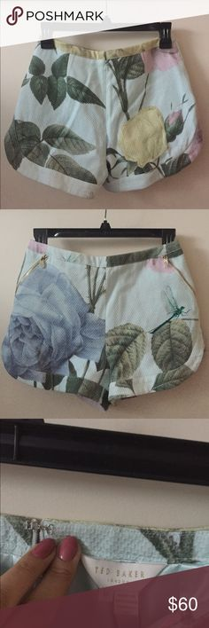Ted Baker Floral Shorts A brand new with tags floral shorts perfect to be dressed up or down. It's been siting in my closet for a long time and it's not my size so I really want to find it a nice home. Ted Baker Shorts