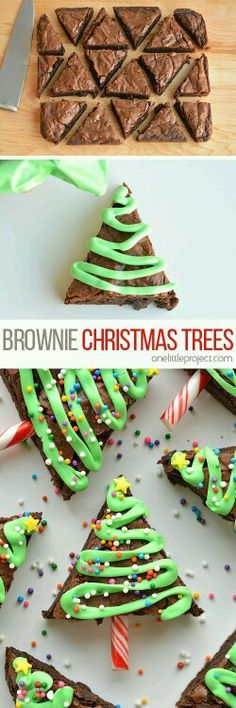 30 Festive Christmas Cookies: Holiday Recipes - The Daily Sp.- 30 Festive Christmas Cookies: Holiday Recipes – The Daily Spice Christmas Cookies: Easy Christmas Tree Brownies - Christmas Party Food, Xmas Food, Christmas Sweets, Christmas Cooking, Noel Christmas, Christmas Goodies, Christmas Candy, Simple Christmas, Christmas Ideas