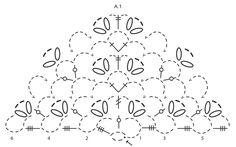 """Seaside Romance - Châle DROPS au crochet, avec rayures de points d'éventail, en """"Cotton Viscose"""" - Free pattern by DROPS Design"""