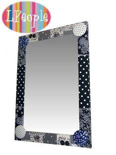 Espelho Patch Decor Preto | LPeople Objetos Decorativos | Elo7