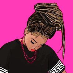 Nicole's dope art images from the web Black Girl Art, Black Women Art, Art Girl, Cartoon Kunst, Cartoon Art, African American Art, African Art, African Culture, Dope Kunst