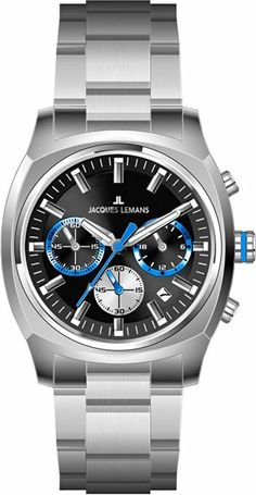 Jacques Lemans Panama 1-1556H Men's Chronograph Metal Bracelet Watch