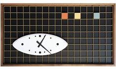 Peter Pepper Reissues Matrix Clock for Anniversary. Styled in the Home & Garden colors for solid walnut frame. Extra cool: use vertically or horizontally. Tabletop Clocks, Colorful Garden, Pepper, Cool Designs, Mid Century, Kids Rugs, Interior Design, 60th Anniversary, Raves