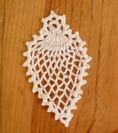 Crochet lace christmas tree decoration