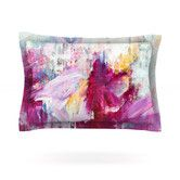 Found it at Wayfair - Magenta Paint Cotton Pillow Sham