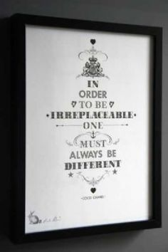 Print By Ros Shiers - Coco Chanel Quotation