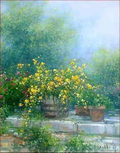 Yellow Flowers - Original Painting by Antonietta Varallo ✿⊱╮