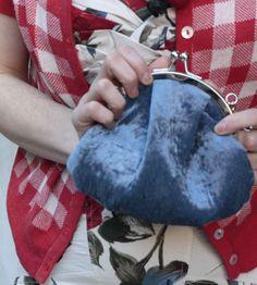 Sweet Teal Velvet velvet clutch bag by sweetcase on Etsy, $35.00