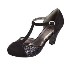 Dancing Days China Girl 40s 50s Style Glitter T-Strap Party Shoes