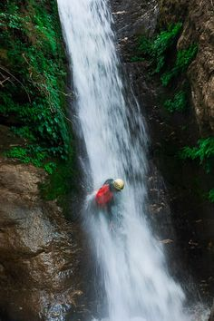 Canyoning Khabre in Nepal - lots of water