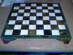 Chess Board-AmberLyn's STG - This Chess Board sits up on legs about 3 inches high and has a center support leg as well.  The STRIP cutter sure comes in handy for this kind of work as well as frame works.