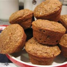 Classic Bran Muffins.  I used 2/3 wheat flour and apple sauce instead of oil.  I also substituted some molasses for sugar.  These are wonderful!