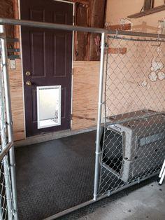 dog kennel in garage - Google Search