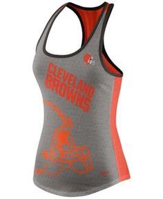 Nike Women's Cleveland Browns Touchdown Tank - Gray XXL