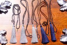 Kendra Tassel Small Crystal Necklace by Zacasha