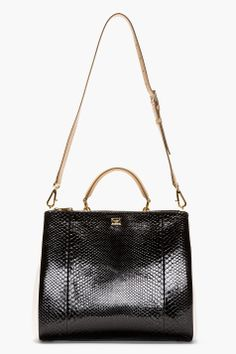 DOLCE  GABBANA Black Miss Sicily Shoulder Bag - Tuba TANIK