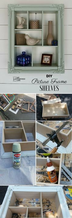 cool Check out the tutorial: #DIY Picture Frame Shelves Industry Standard Design... by http://www.best100-homedecorpictures.us/diy-home-decor/check-out-the-tutorial-diy-picture-frame-shelves-industry-standard-design/