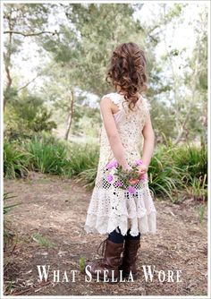 A Vintage Lace and Doily Dress for Easter.