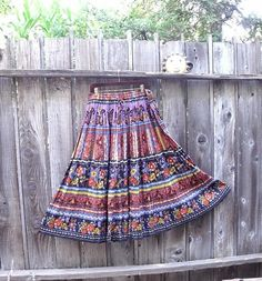 Gypsy Crinkle Gauze Maxi Skirt. Boho Cotton Maxi by KheGreen