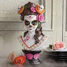 Day of the Dead Bust - Grandin Road