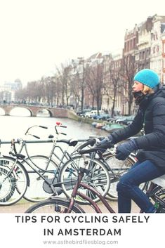 Tips for cycling in Amsterdam by a local, from the road rules to things to avoid. These tips for riding a bike in Amsterdam will help visitors see the city by bicycle safely and easily. Anne Frank, Europe Travel Tips, Travel Advice, Backpacking Europe, European Travel, Travel Ideas, Travel Guide, Travel Destinations, Dutch Cycle