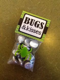 Bugs and Kisses Halloween treat bag or gift by PartyTimeDesign