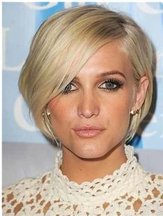 Ashley Simpson's Graduated Bob Hairstyle.    This might be a little short for me but I definitely love it!