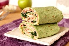 Ham, Apple, and Blue Cheese Wraps