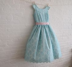 lace dress in robins egg blue