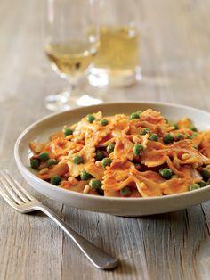 Farfalle with Tomato-Goat Cheese Cream Sauce Recipe | Vegetarian Times