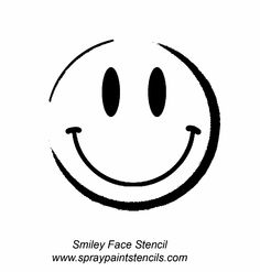 Smily Face Stencil