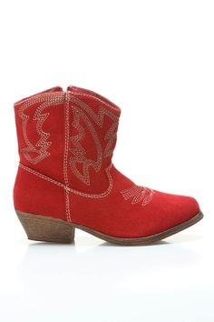Cowboy Boots In Red.