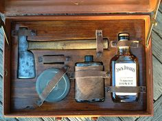 As always - I got carried away - and ended up making a Gentleman's Survival Kit. Here's what I ended up using to make it...     Content...