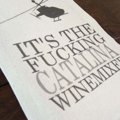 """Catalina Winemixer"" tea towel, printed onto a lint-free, natural, unbleached cotton flour sack towel. Handmade in Georgia, United States Flour Sack Towels, Tea Towels, Georgia United, Twine, United States, Printed, Natural, Cotton, Handmade"