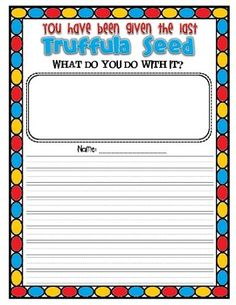 """The Lorax: Activities  Reflective Narrative- """"What did you do with it?"""""""