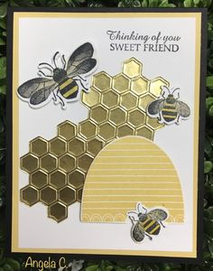 Stamping With Susan: Stampin' Up! Bee Cards, Stamping Up Cards, Rubber Stamping, Bee Happy, Get Well Cards, Animal Cards, Butterfly Cards, Pretty Cards, Cards For Friends