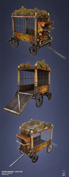 Circus Wagon. Could cover with circus fabric when changing scenes